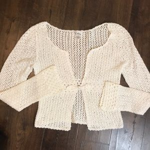 Lilly Pulitzer White Crocheted Cardigan